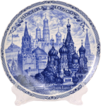Decorative plates from the series - Cities of Russia